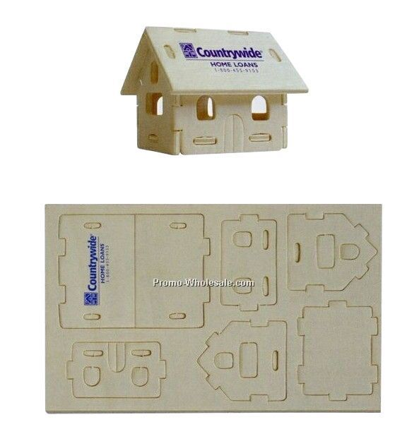 "7-1/4""x4-1/2""x1/8"" House Mini-logo Puzzle"