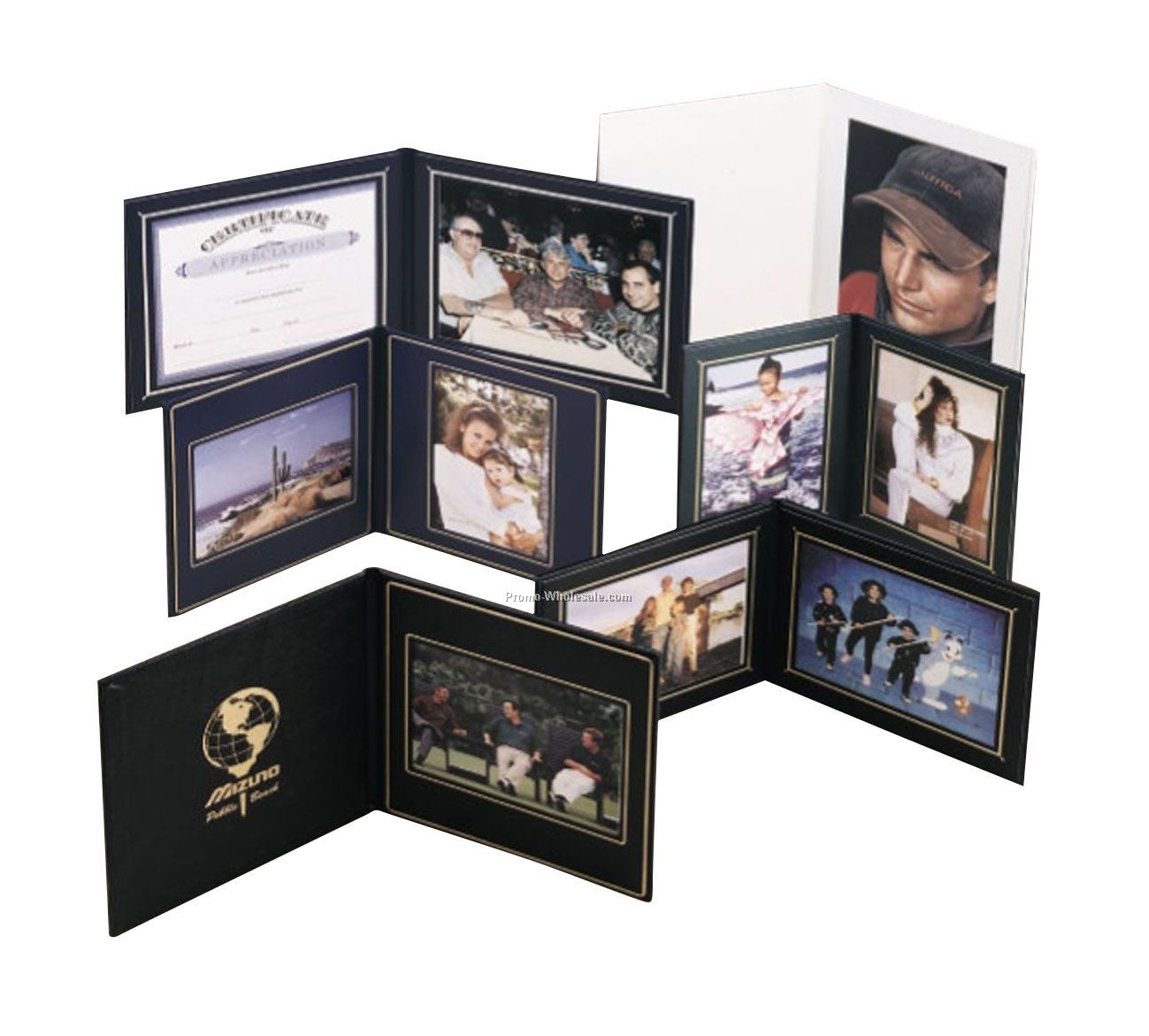 "7-3/8""x9-3/8"" Landscape Superior Double Photo / Certificate Frame"