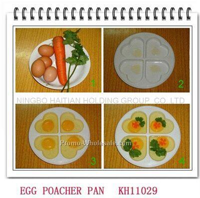 4 eggs heart microwave shape poacher