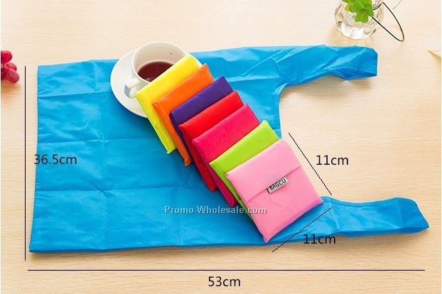 New style polyester folding shopping bag, fashion hand bag