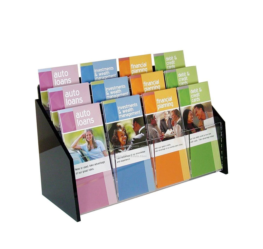 Deluxe 12-pocket Acrylic Brochure Holder - Countertop,Wholesale china