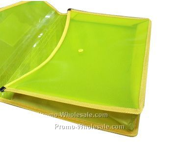 Expanding Pocket  File Folder in transparent plastic
