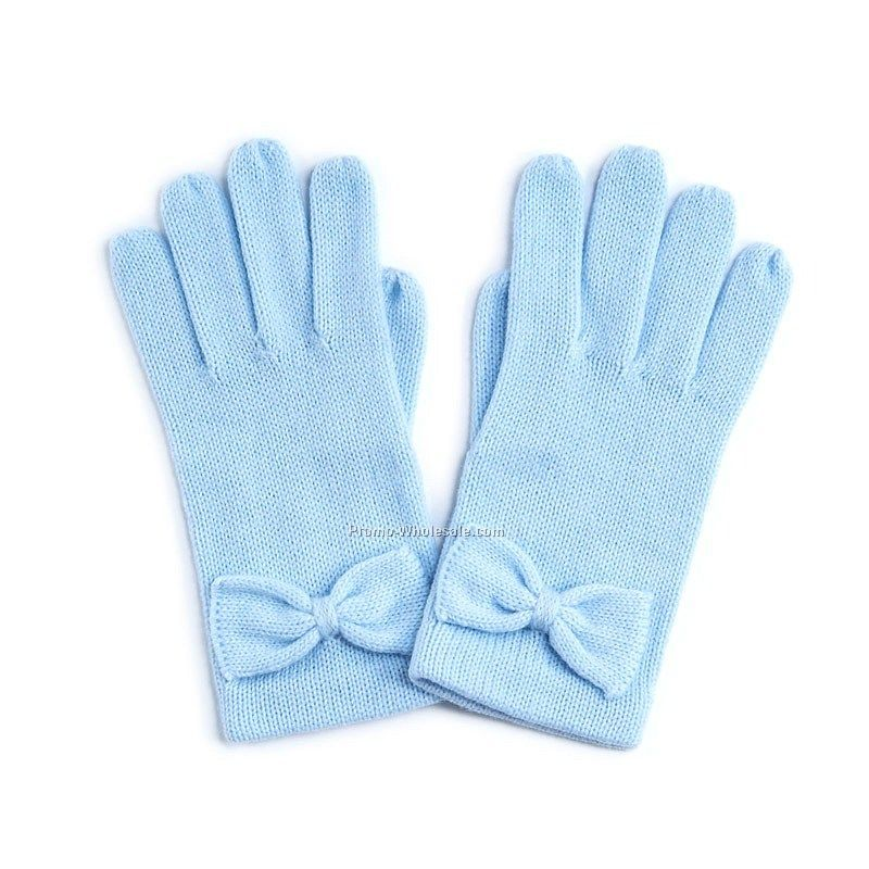 cute skyblue bow gloveswholesale china