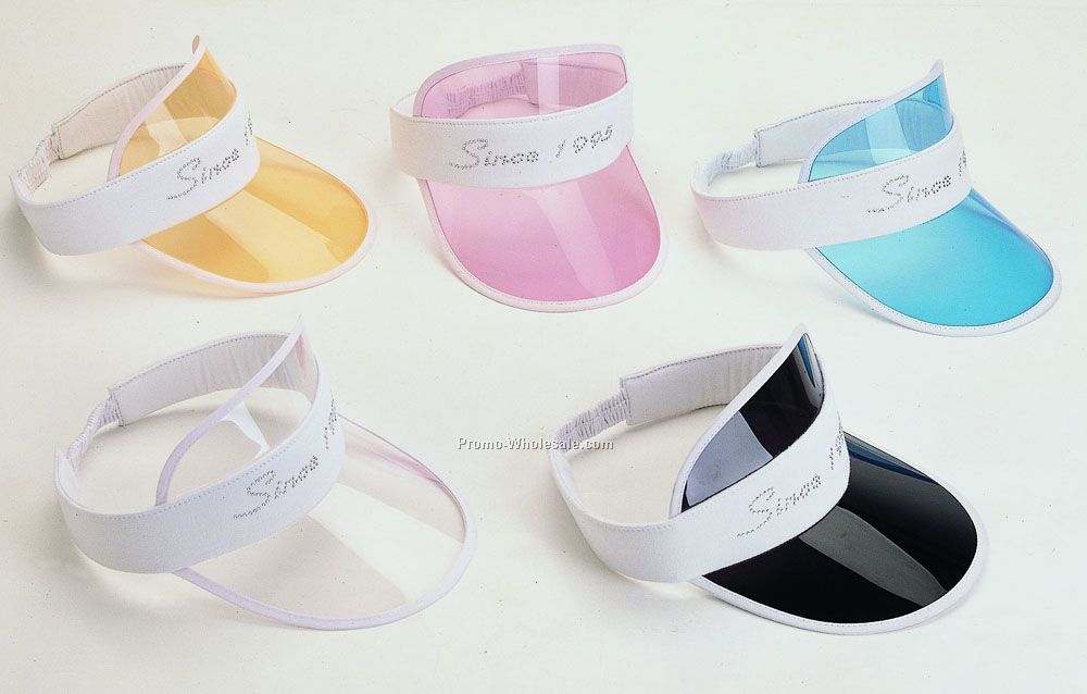 Sunvisor with translucent plastic peak
