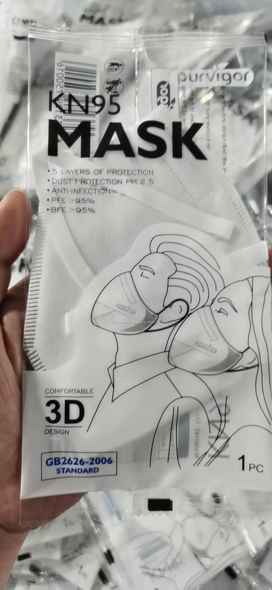 5 layers KN95 face mask with FDA listed