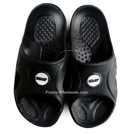 Shower Sandals With Rubber Patch Imprint