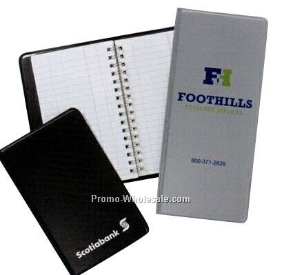 Small Swade Vinyl Wirebound Tally Book