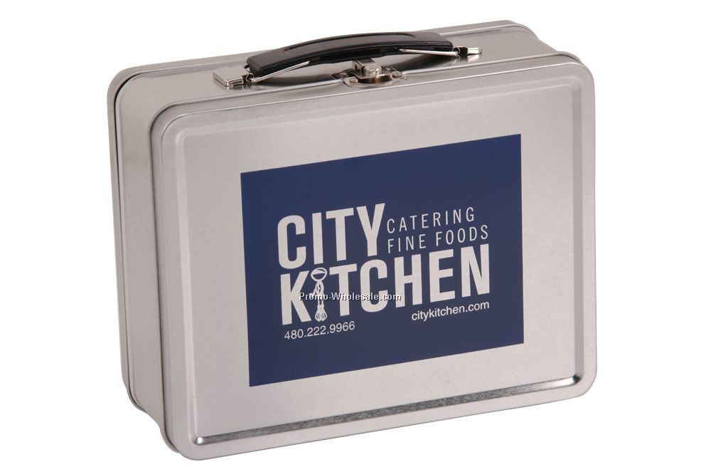 Stock Medium Retro Tin Lunch Box