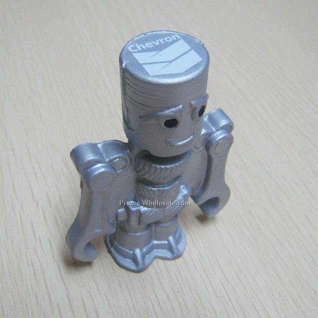 Fun robot pu stress ball ,PU toy