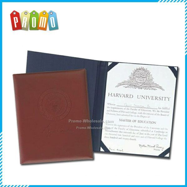 Top Grain Leather Certificate Holder - Domestic