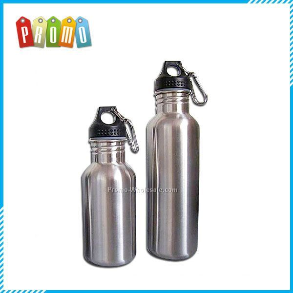 Wide Mouth Stainless Steel Water Bottle, 25 Oz. Carabiner, Gift Boxed