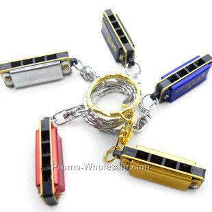 Hohner Metal Mini Harmonica Key Chains