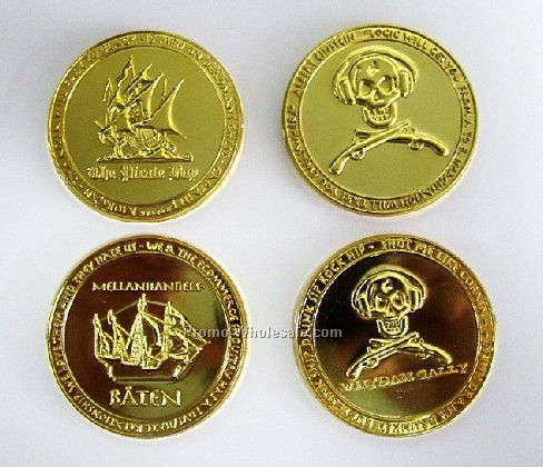 "Plastic Coins W/ Pirate Designs (1-1/4"" To 1-5/8"")"