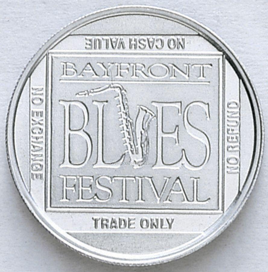 "1-1/4"" Natural Aluminum Coin / Medallion (16 Gauge)"