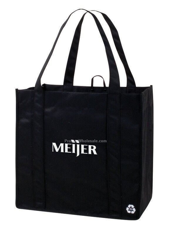 """13""""x""""12.5""""x8"""" V-natural Recycled Pet Grocery Tote Bag"""
