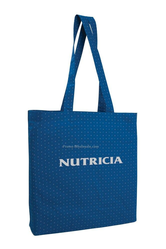 "15""x15.5""x3"" Printed Gusseted Economy Tote Bag"
