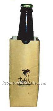 16 Oz. Bottle Sip Sac Insulating Beverage Bag - Natural Beige