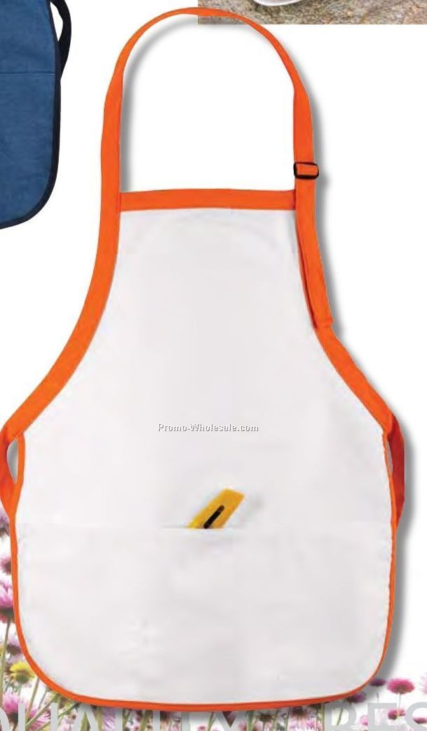 2 Tone Contemporary Bib Apron (Embroidered)