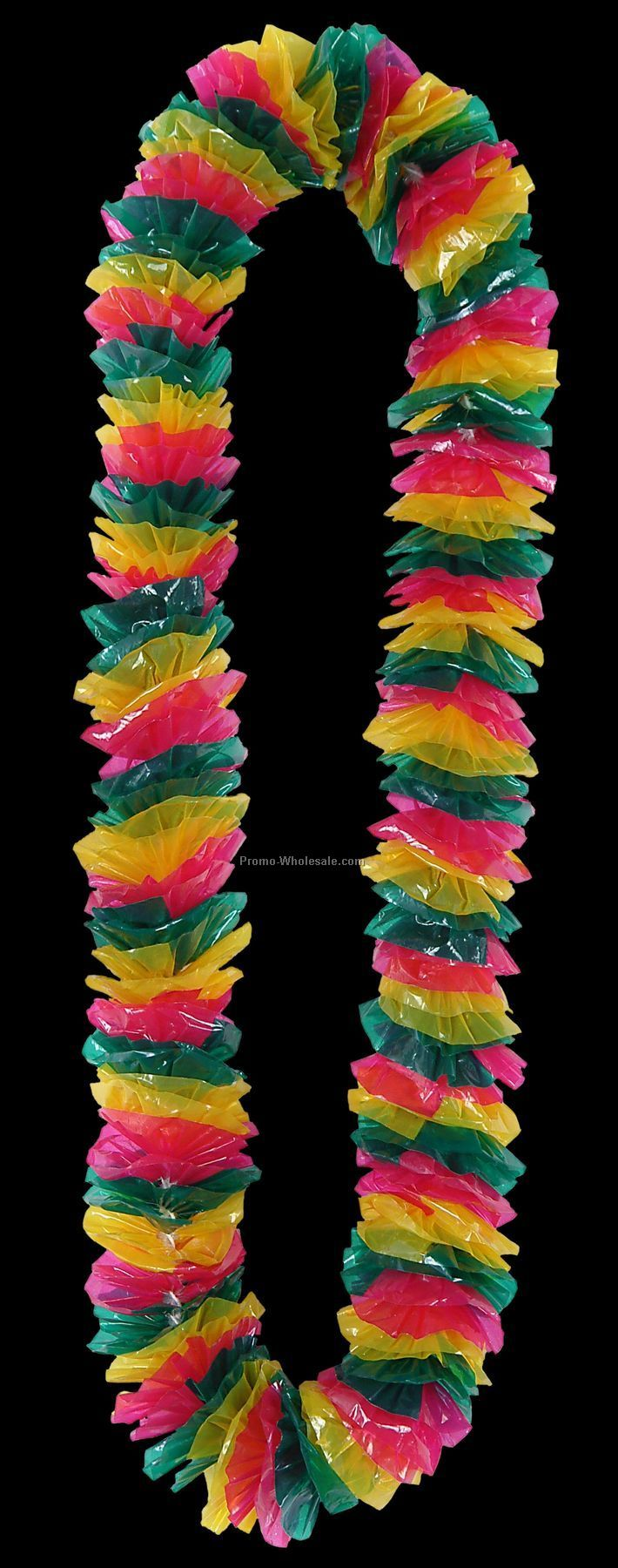 "2""x36"" Floral Color Tropical Bright Poly Leis"