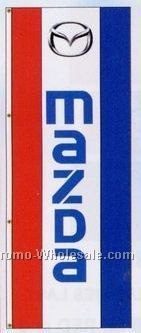 3'x8' Stock Double Face Dealer Rotator Logo Flags - Mazda