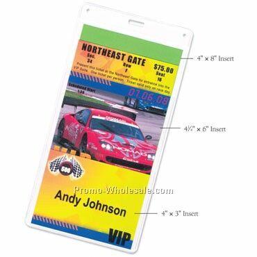 "4""x8"" 3 Pocket Nametag/ Agenda/ Ticket Holder"
