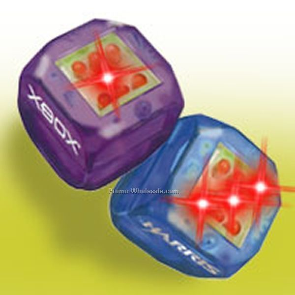 Blue Light Up Dice