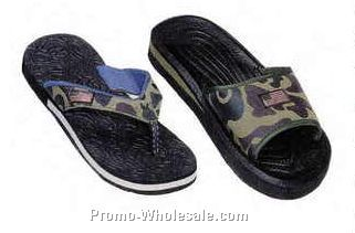 Camouflage Beach Sandals (Case/ Assorted)