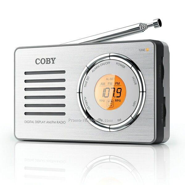 Coby AM/FM Radio W/ Digital Display & Alarm Clock