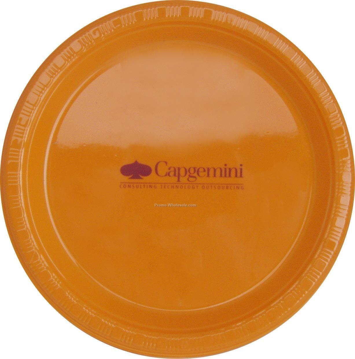 "Colorware 9"" Sunkissed Orange Plate"