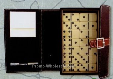Double Nine Domino Game Set With Pen & Score Pad