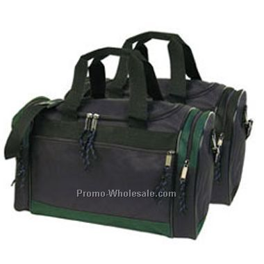 Duffel Bag (Black W/ Green Trim)