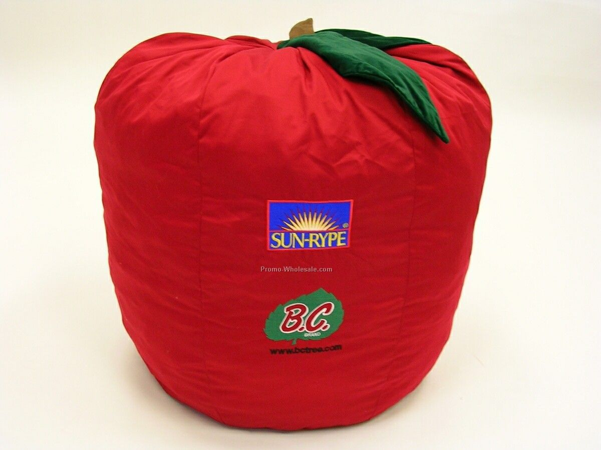 Fruit Collection Apple-shaped Bean Bag Pillow (Screen Printed)