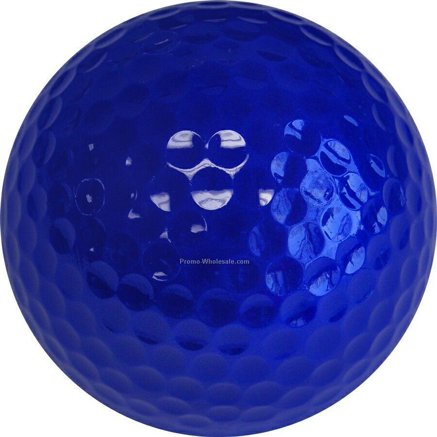 Golf Balls - Dark Blue - Custom Printed - 1 Color - Clear 3 Ball Sleeves