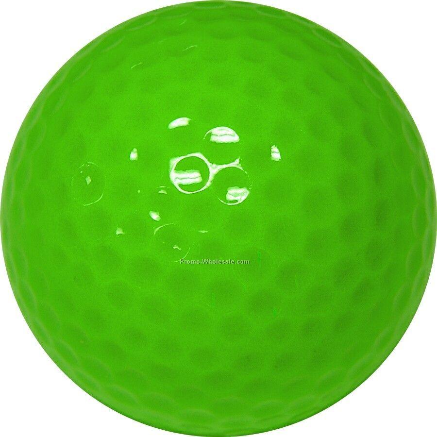 Golf Balls - Light Green - Custom Printed - 4 Color - Clear 3 Ball Sleeves