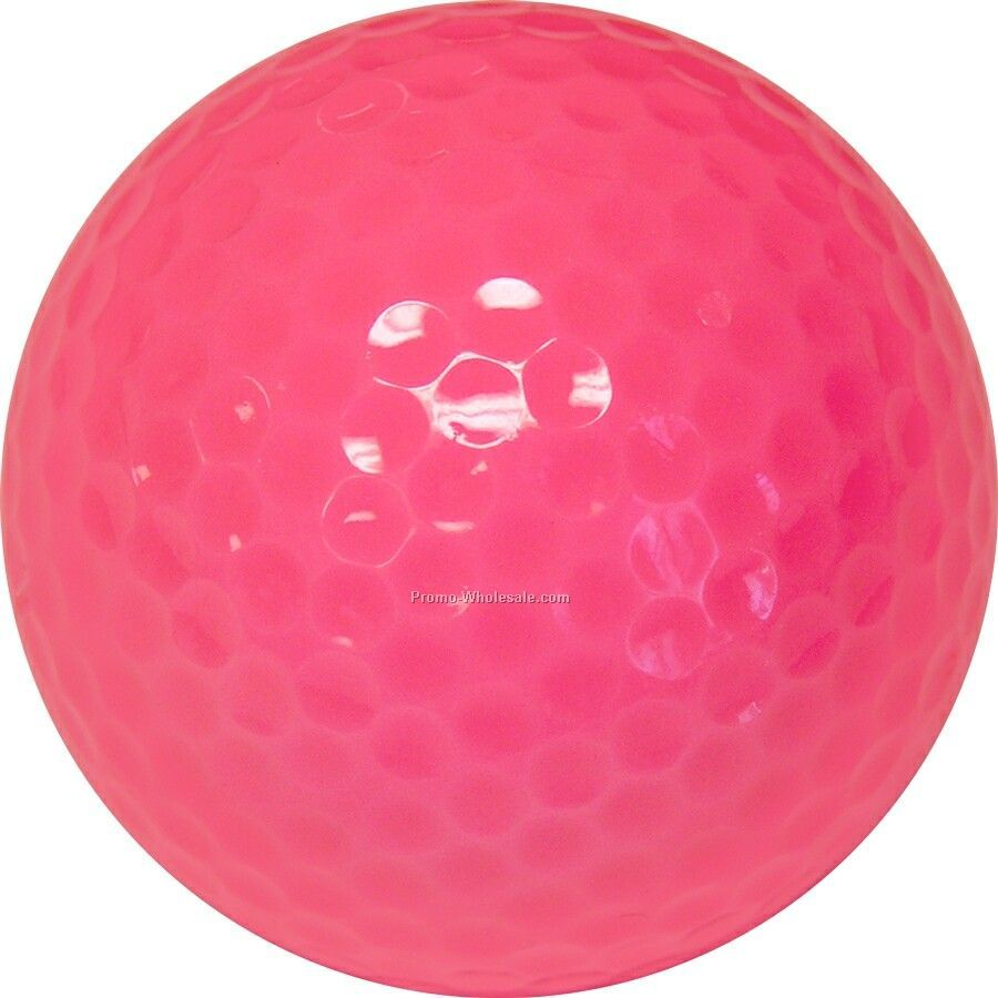 Golf Balls - Pink - Custom Printed - 3 Color - Clear 3 Ball Sleeves