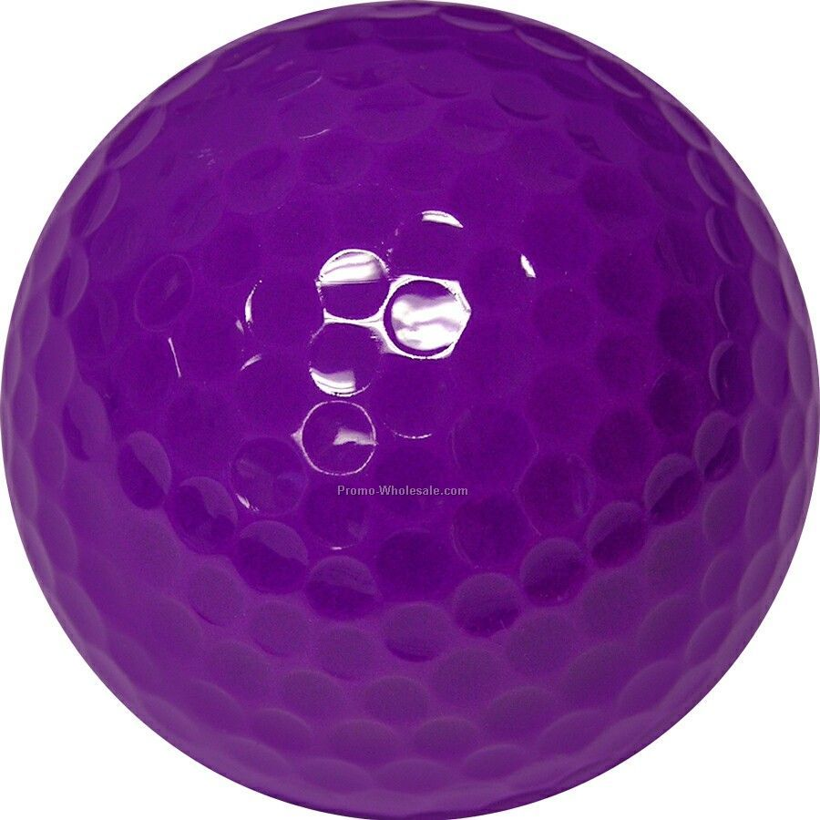 Golf Balls - Purple - Custom Printed - 2 Color - Clear 3 Ball Sleeves