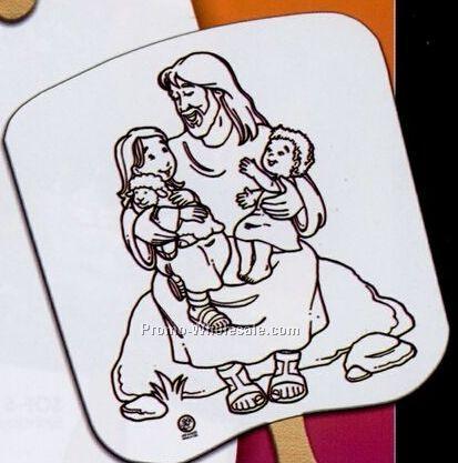 Jesus With Children U-color Fans