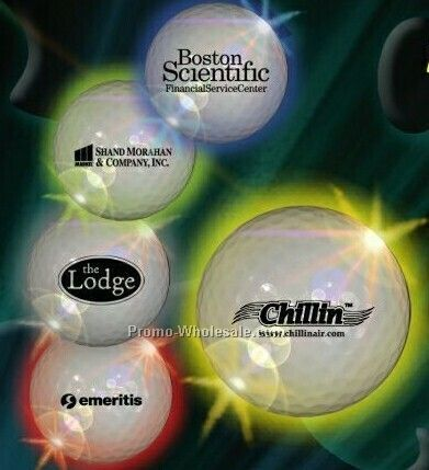 Light-up Bulk Golf Ball - Yellow LED