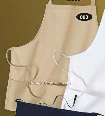 North End Medium Length Bib Apron W/ Pockets
