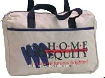 """Nylon With Vinyl Backing 10-1/2""""x14-3/4""""x3"""" Convention Briefcase"""