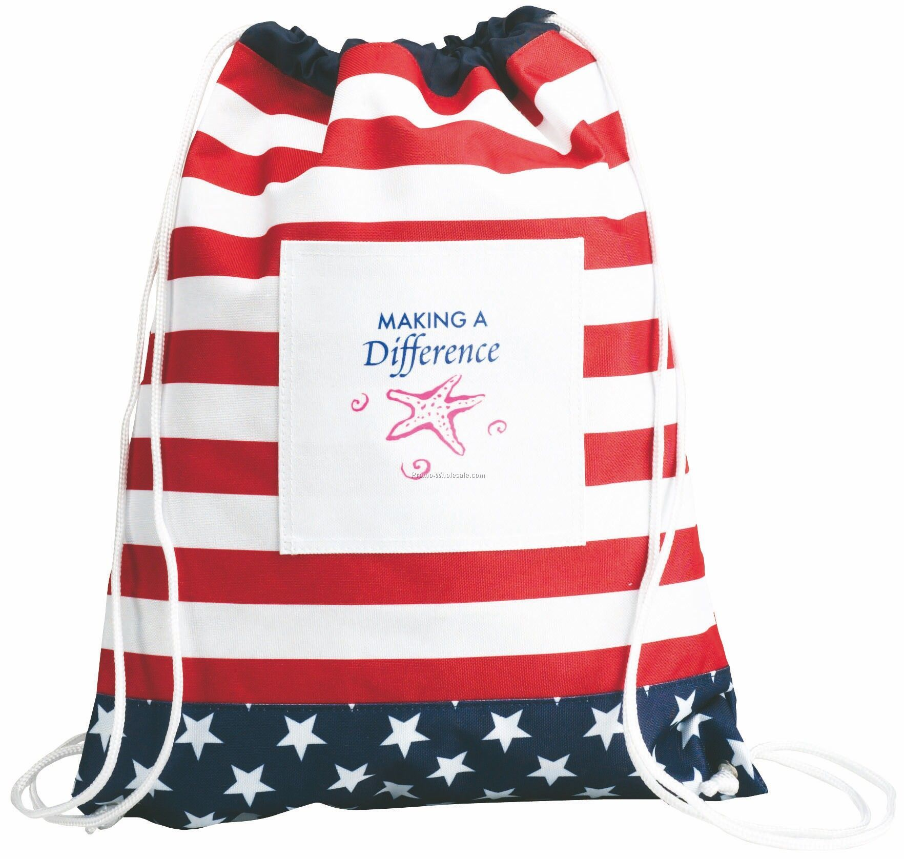 Patriotic/Election Campaign/Stars & Stripes Drawstring Backpack
