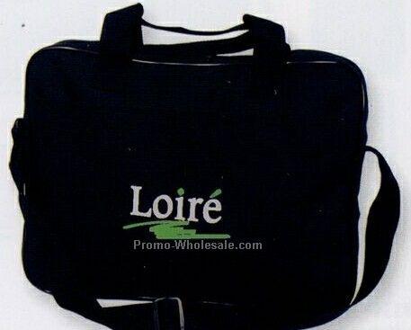 Polyester Briefcase With Adjustable Shoulder Strap (Blank)