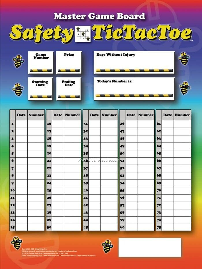 Safety Tictactoe Program Or Custom Games & Boards