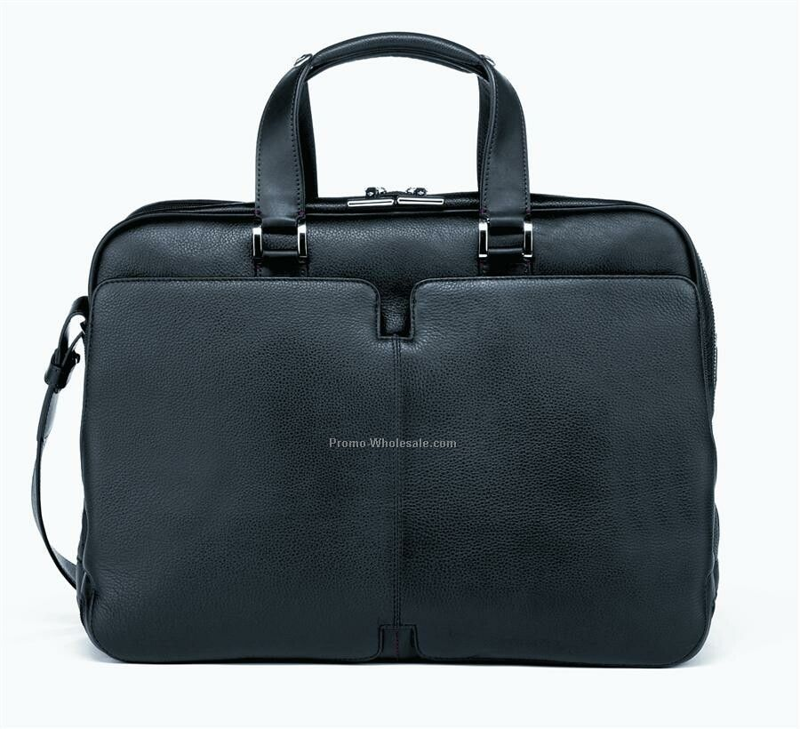 Samsonite High Tech Leather Briefcase Laptop Organizer