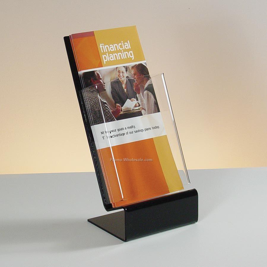 Slant-back Single Pocket Clear Acrylic Brochure Holder - Countertop