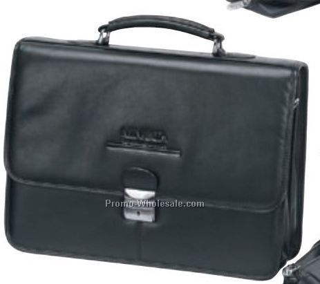 Slim Flap Over Briefcase