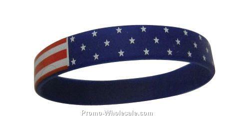 Stock Silicone Wrist Band (Americana)