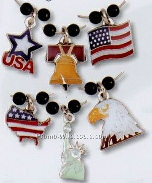 Stock Wine Glass Charm Set - Patriotic Charms