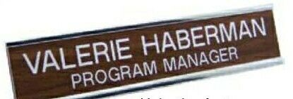 """Wall Name Plate W/ Insert - 2""""x12""""x1/16"""""""