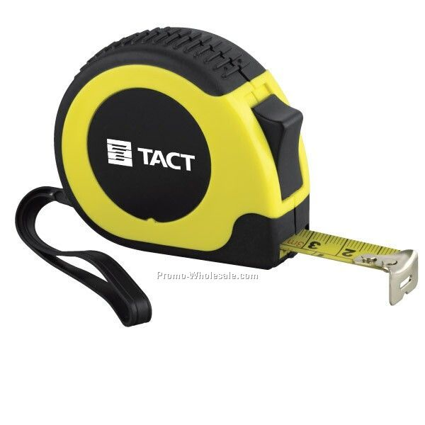 10' Rugged Locking Tape Measure With Rubber Casing